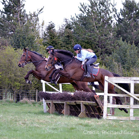 Lily Bradstock schooling with Nico de Boinville